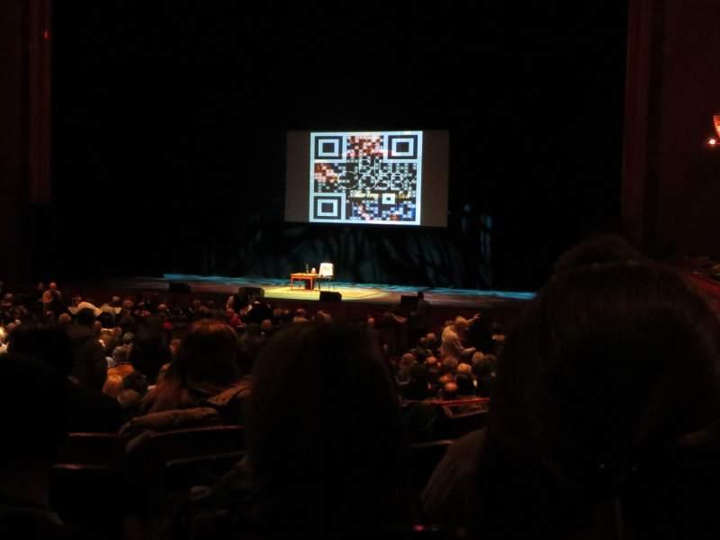 Vista sentada para Prudential Hall at the New Jersey Performing Arts Center Secção Grand Tier Right Fila E Lugar 18