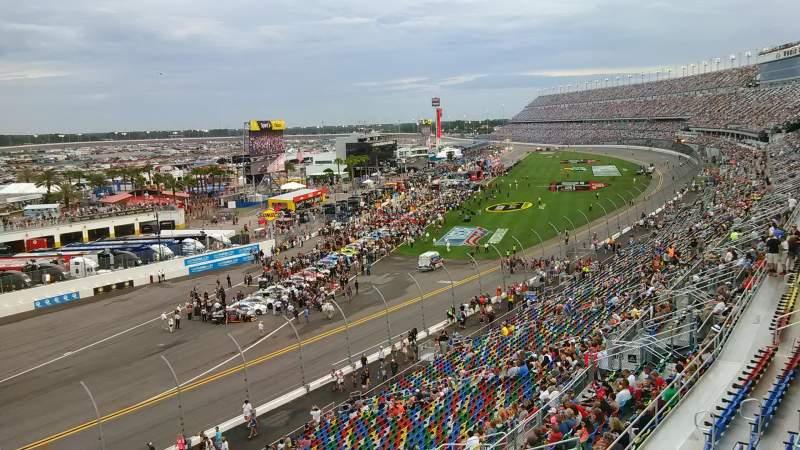 Vista sentada para Daytona International Speedway Secção 423 Fila 24 Lugar 4a