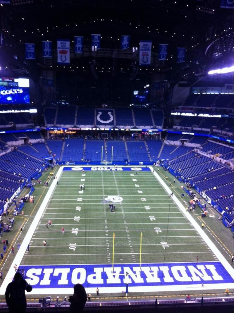 Vista sentada para Lucas Oil Stadium Secção 627 Fila 9