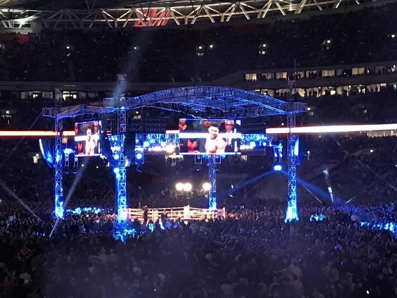 Vista sentada para Wembley Stadium Secção L115 Fila 24 Lugar 93