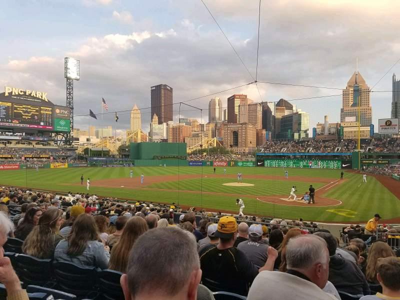 Vista sentada para PNC Park Secção 119 Fila L Lugar 8