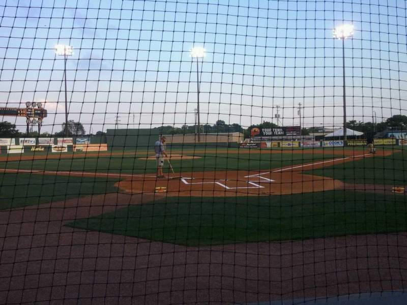 Vista sentada para Herschel Greer Stadium Secção N Fila 3 Lugar 9