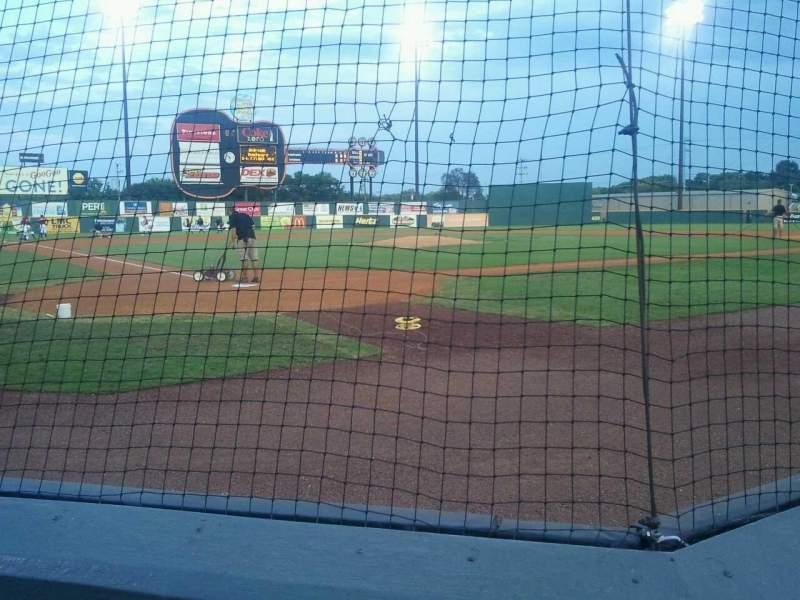 Vista sentada para Herschel Greer Stadium Secção M Fila 3 Lugar 9