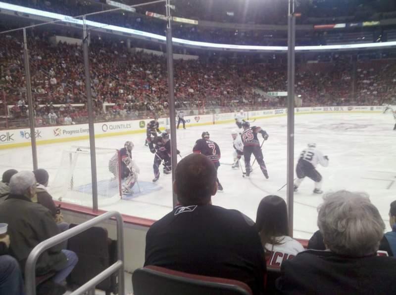 Vista sentada para PNC Arena Secção 110 Fila E Lugar 3