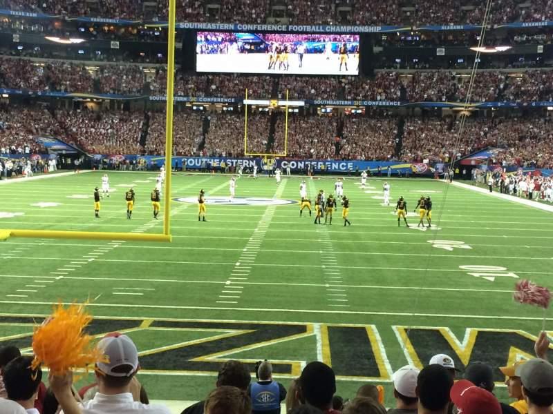 Vista sentada para Georgia Dome Secção 125 Fila 9 Lugar 8