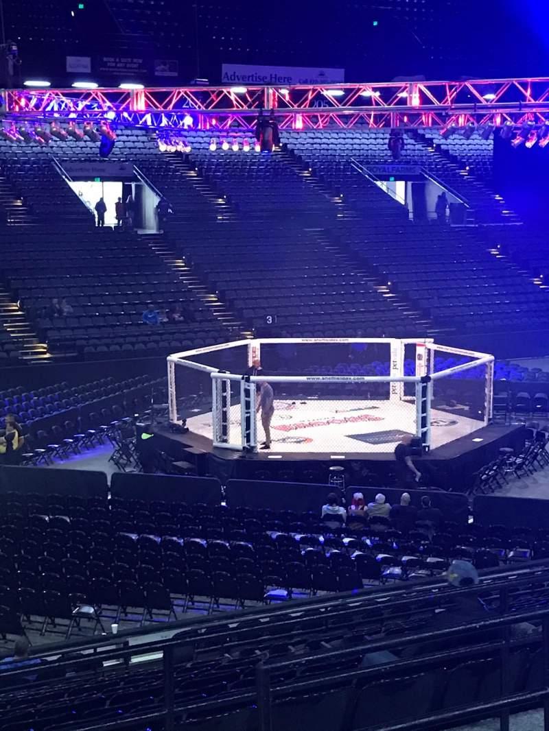 Vista sentada para Royal Farms Arena Secção 216 Fila E Lugar 1
