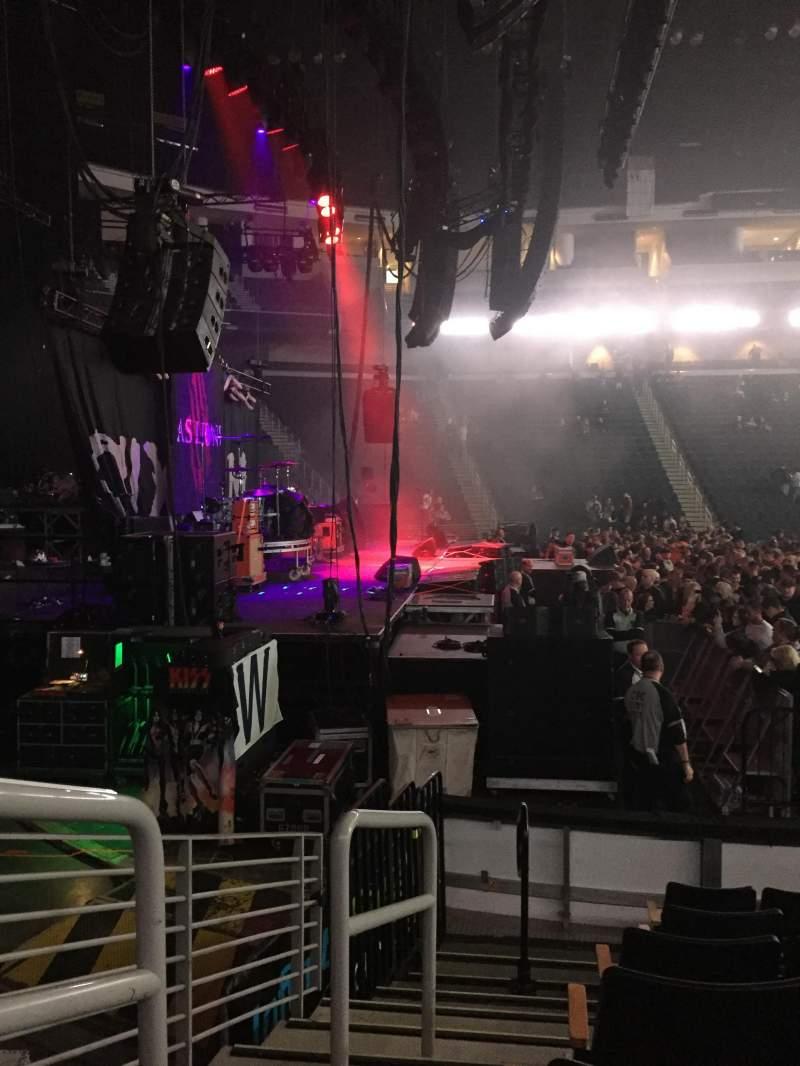 Vista sentada para Infinite Energy Arena Secção 116 Fila G Lugar 13