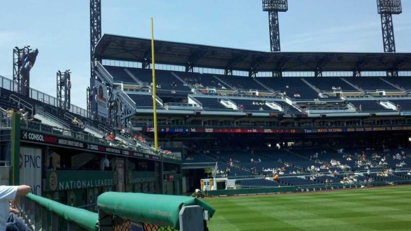 Vista sentada para PNC Park Secção 139 Fila A Lugar 17