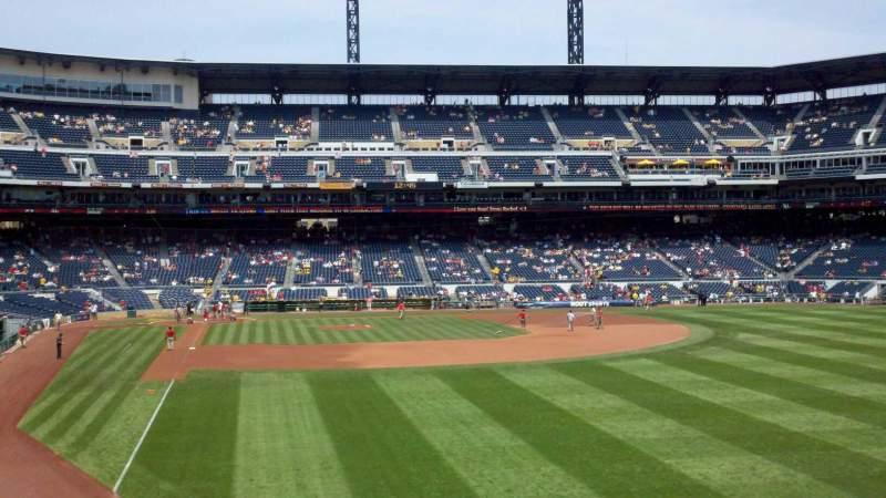 Vista sentada para PNC Park Secção 145 Fila A Lugar 16