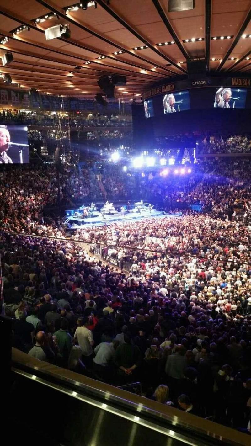 Vista sentada para Madison Square Garden Secção 227 Fila 1 Lugar 18