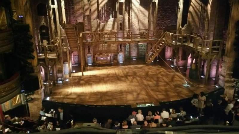 Vista sentada para Richard Rodgers Theatre Secção Front Mezzanine C Fila A Lugar 114
