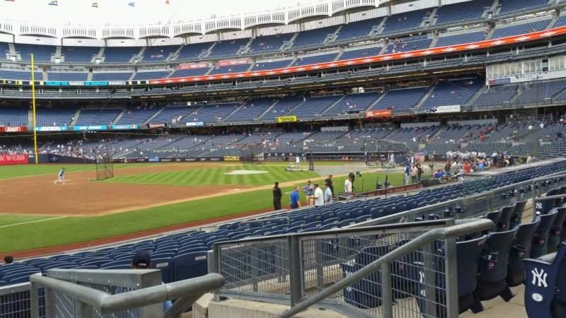 Vista sentada para Yankee Stadium Secção 127B Fila 5 Lugar 2