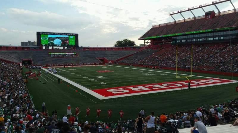 Vista sentada para SHI Stadium Secção 119 Fila 27 Lugar 1