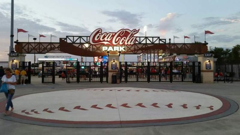 Vista sentada para Coca-Cola Park