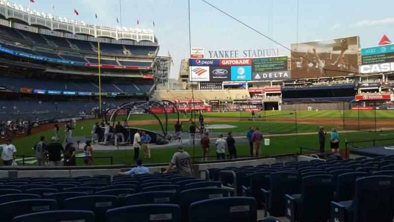 Vista sentada para Yankee Stadium Secção 118 Fila 1 Lugar 1