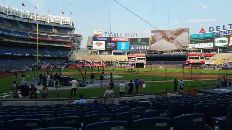 Vista sentada para Yankee Stadium Secção 118 Fila 1 Lugar 3