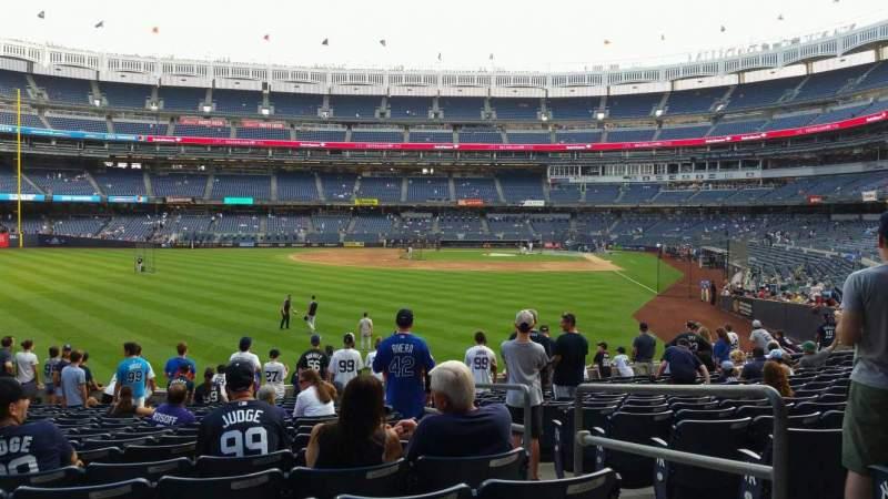 Vista sentada para Yankee Stadium Secção 134 Fila 16 Lugar 3