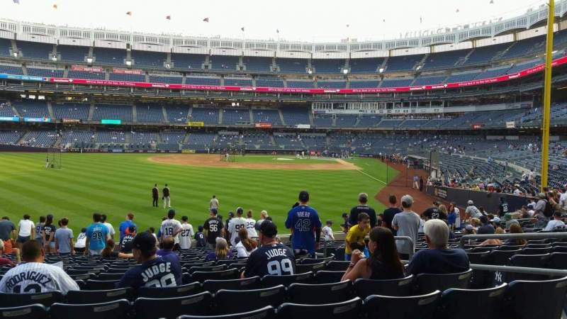 Vista sentada para Yankee Stadium Secção 134 Fila 16 Lugar 6