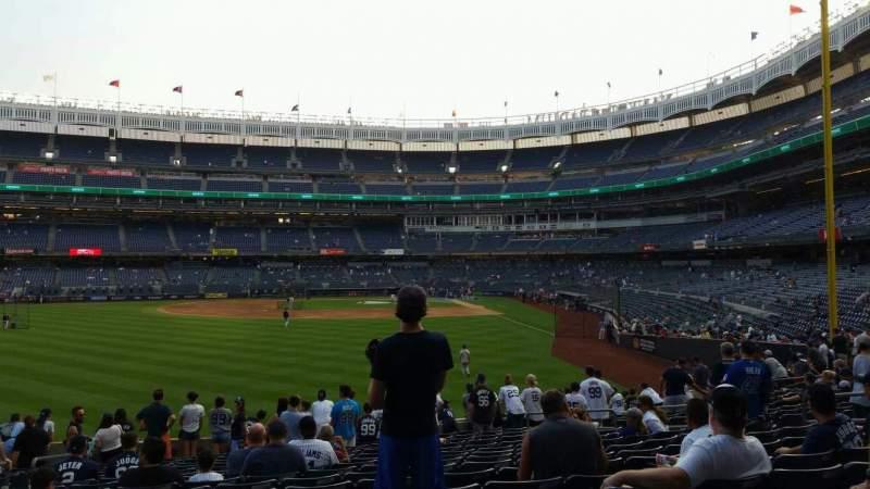 Vista sentada para Yankee Stadium Secção 134 Fila 16 Lugar 15