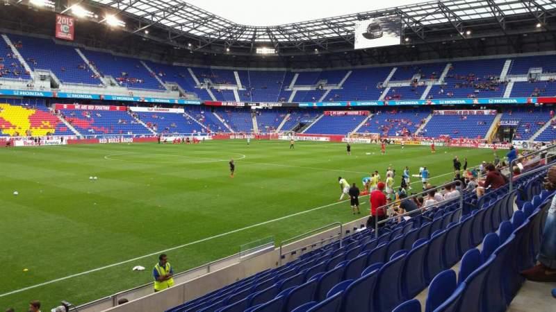 Vista sentada para Red Bull Arena (New Jersey) Secção 112 Fila 9 Lugar 17