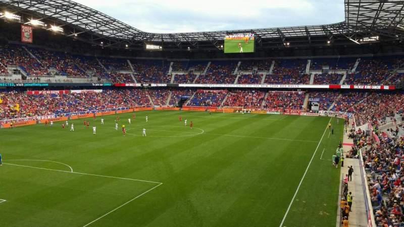 Vista sentada para Red Bull Arena (New Jersey) Secção 215 Fila 1 Lugar 27