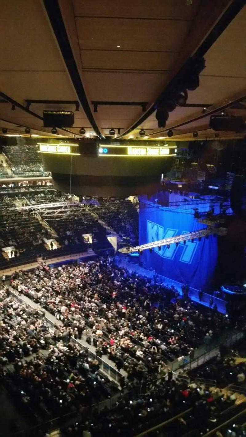 Vista sentada para Madison Square Garden Secção 311 Fila 1 Lugar 5