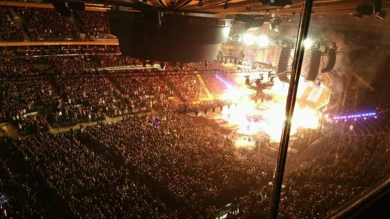 Vista sentada para Madison Square Garden Secção 311 Fila 1 Lugar 6