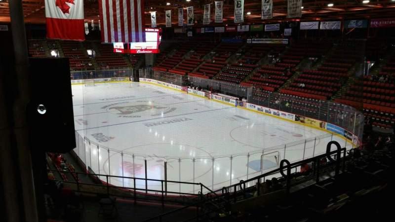 Vista sentada para Floyd L. Maines Veterans Memorial Arena Secção 24 Fila M Lugar 8