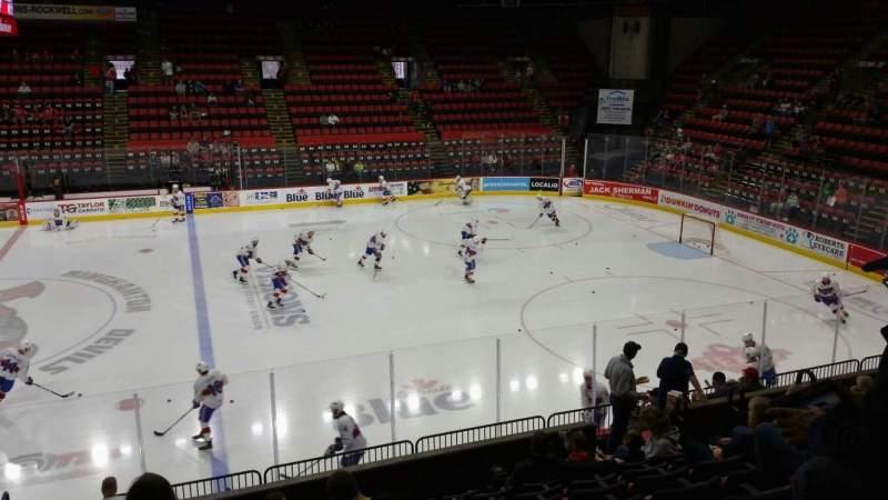Vista sentada para Floyd L. Maines Veterans Memorial Arena Secção 28 Fila I Lugar 14