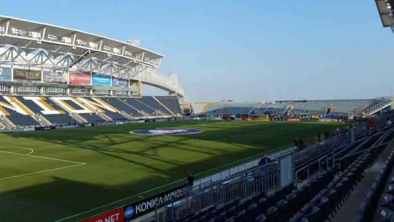 Vista sentada para Talen Energy Stadium Secção 113 Fila P Lugar 1