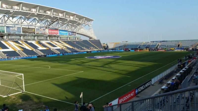 Vista sentada para Talen Energy Stadium Secção 113 Fila P Lugar 17