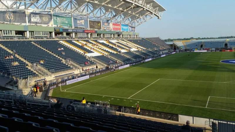 Vista sentada para Talen Energy Stadium Secção 118 Fila W Lugar 1