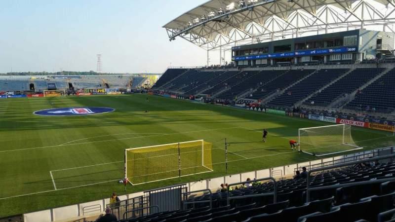 Vista sentada para Talen Energy Stadium Secção 118 Fila W Lugar 10