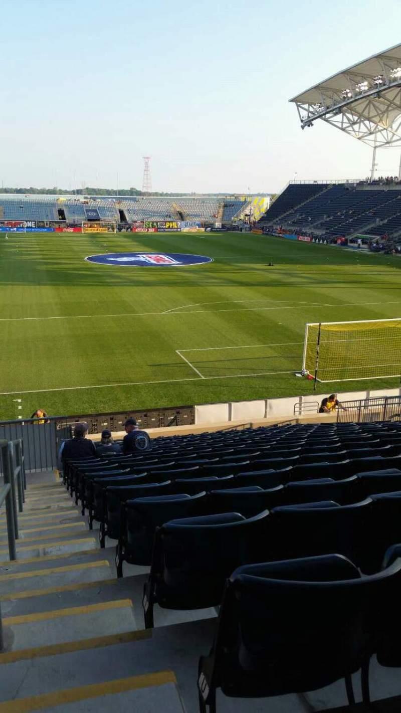 Vista sentada para Talen Energy Stadium Secção 118 Fila W Lugar 23