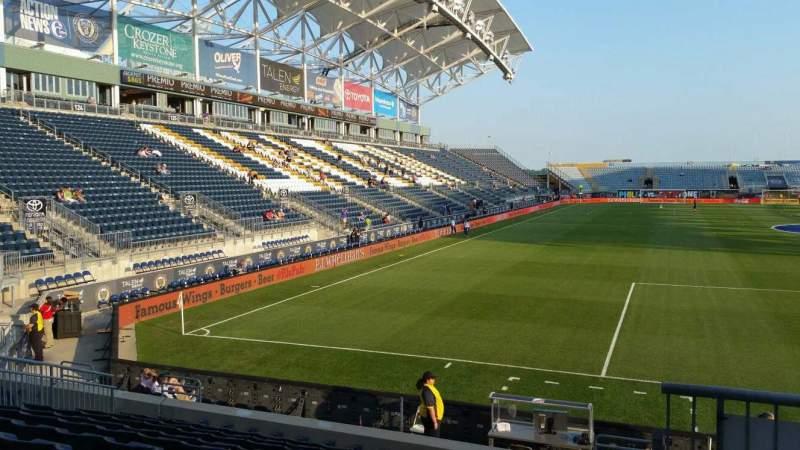 Vista sentada para Talen Energy Stadium Secção 119 Fila M Lugar 1