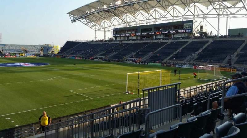 Vista sentada para Talen Energy Stadium Secção 119 Fila M Lugar 9