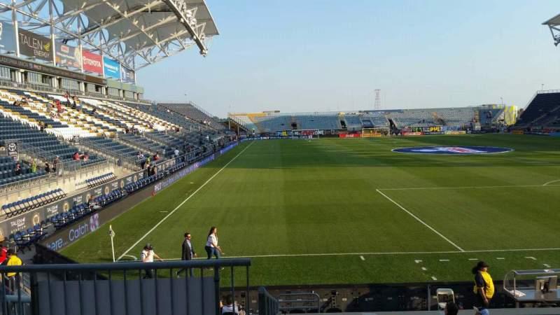 Vista sentada para Talen Energy Stadium Secção 119 Fila M Lugar 20