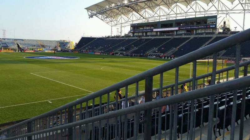Vista sentada para Talen Energy Stadium Secção 120 Fila H Lugar 1