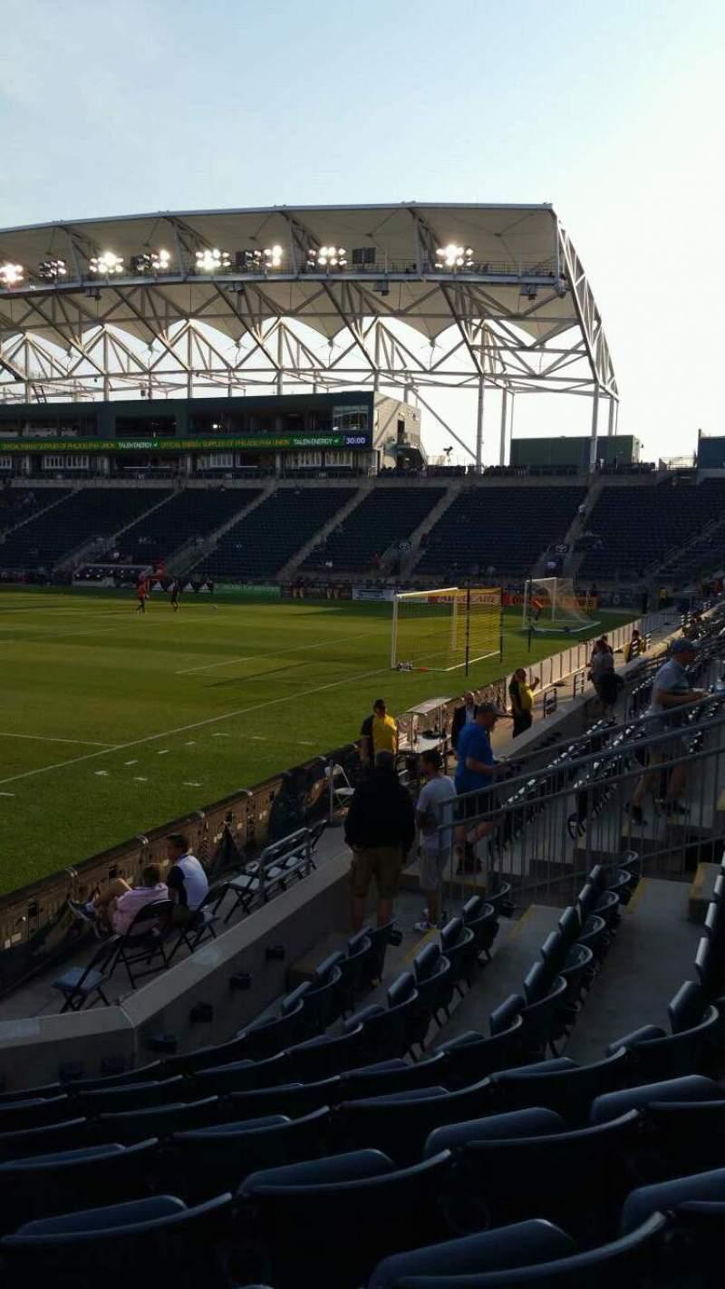 Vista sentada para Talen Energy Stadium Secção 120 Fila H Lugar 18