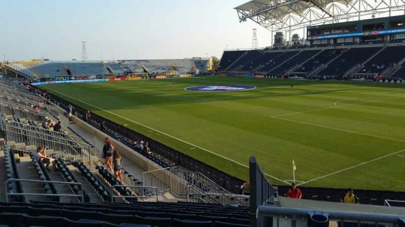 Vista sentada para Talen Energy Stadium Secção 121 Fila R Lugar 11