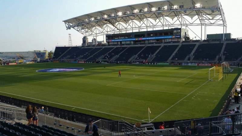 Vista sentada para Talen Energy Stadium Secção 121 Fila R Lugar 21