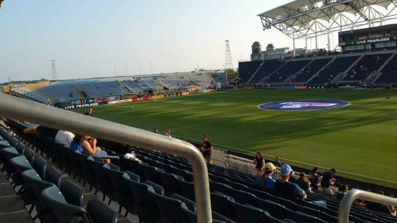 Vista sentada para Talen Energy Stadium Secção 123 Fila V Lugar 20