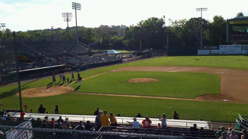 Vista sentada para New Britain Stadium Secção 203 Fila K Lugar 10