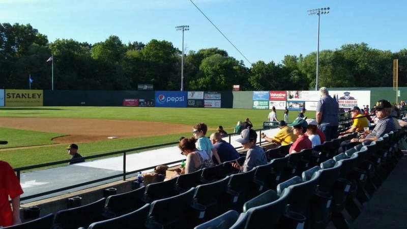 Vista sentada para New Britain Stadium Secção 105 Fila G Lugar 18