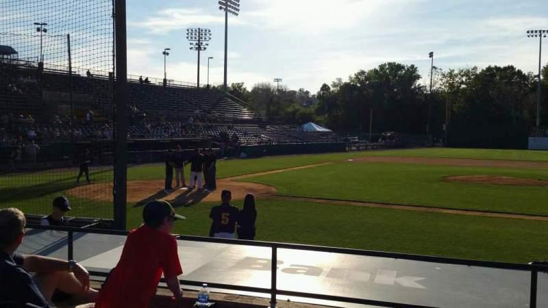 Vista sentada para New Britain Stadium Secção 105 Fila G Lugar 11