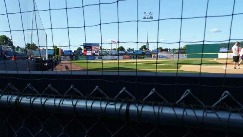 Vista sentada para NYSEG Stadium Secção 1 Fila A Lugar 6