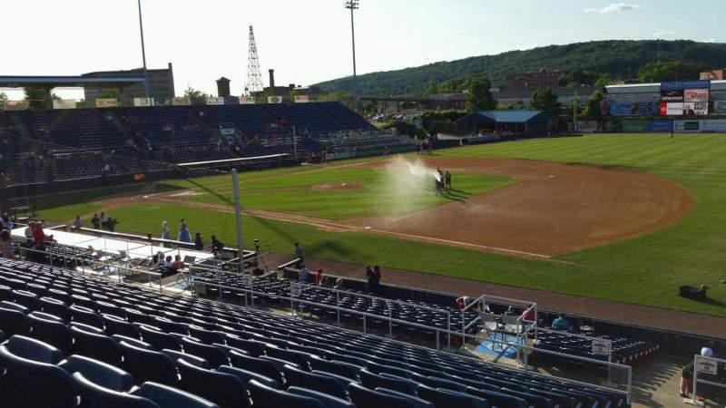 Vista sentada para NYSEG Stadium Secção 114 Fila X Lugar 1