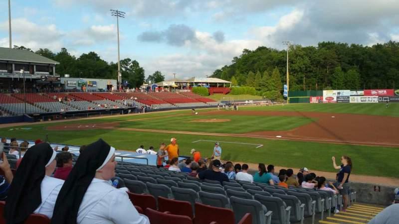 Vista sentada para Dodd Stadium Secção 3 Fila N Lugar 22