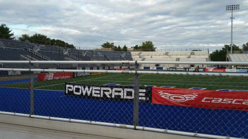 Vista sentada para James M. Shuart Stadium Secção 7 Fila 1 Lugar 1