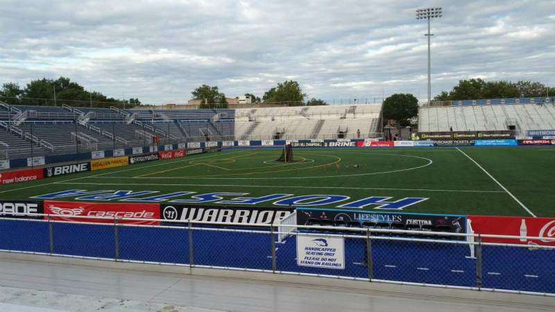 Vista sentada para James M. Shuart Stadium Secção 6 Fila 10 Lugar 1